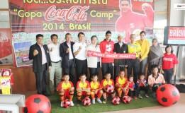 """โค้ก  หาดทิพย์เปิดประสบการณ์ฟุตบอลระดับโลกให้กับเยาวชนโครงการ  COPA  Coca-Cola  Camp  2014 Brazil  """"รอมาฎอน  มีดามี"""""""