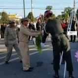 เทศบาลตำบลน้ำน้อยร่วมถวายพวงมาลาต่อหน้าอนุสาวรีย์รูปพลเอกเสนาณรงค์ เนื่องในวันทหารผ่านศึก