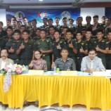 พิธีเปิดการอบรมเสวนาเวทีเดินหน้าประเทศไทย เพื่อให้ความรู้กับนักศึกษาวิชาทหารและรับฟีงความคิดเห็นในการปฎิรูปประเทศ