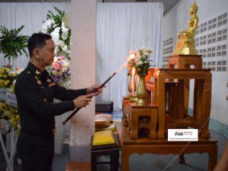 พิธีสวดพระอภิธรรมศพ พลฯ อานนท์ แสงนพรัตน์ สังกัด ร.152 พัน 3 ที่เสียชีวิตขณะปฏิบัติหน้าที่ใน จชต.