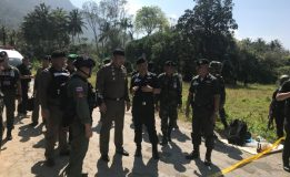 ตำรวจภูธรภาค 9 ร่วมตรวจสถานที่เกิดเหตุคนร้ายลอบวางระเบิด