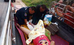 ตราด-กู้ภัยหนุ่มมือคลอด ช่วยหญิงคลอดลูกบนรถปลอดภัยที่เกาะช้าง