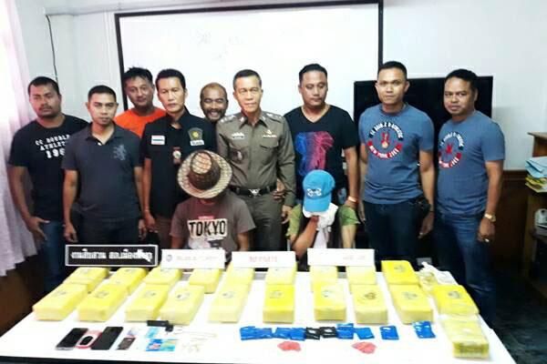ตำรวจพังงาโชว์ผลงานจับเครือข่ายยาบ้ารายใหญ่ยึด 2 แสนเม็ด