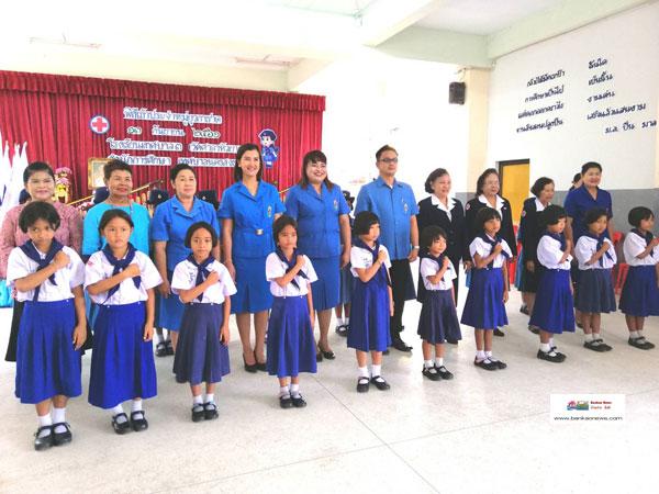 โรงเรียนเทศบาล 3 (วัดศาลาหัวยาง) จัดกิจกรรมพิธีเข้าประจำหมู่ยุวกาชาด