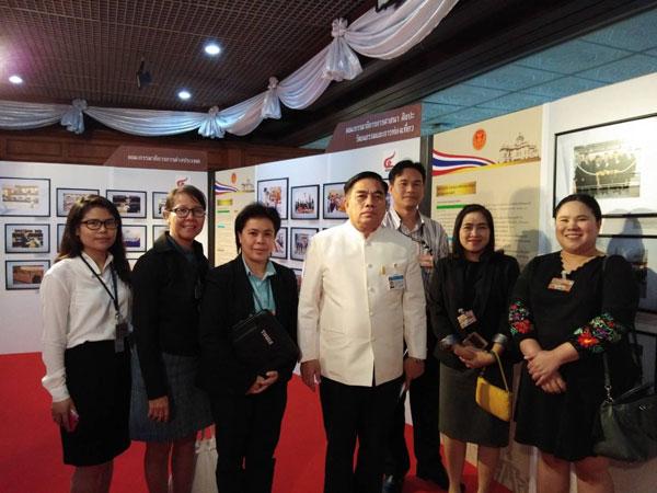 ผู้แทนจากการไฟฟ้าฝ่ายผลิตแห่งประเทศไทย การไฟฟ้านครหลวง และบริษัท ปตท.จำกัด (มหาชน) เข้าชมนิทรรศการแสดงผลงาน 4 ปี สภานิติบัญญัติแห่งชาติ