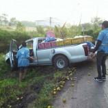 #รัตภูมิ…กระบะรั้วทุกส้มชนกับรถ 6 ล้อทุกไม้ท่อน โชคดีไม่มีเจ็บ