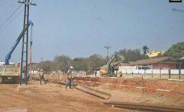 ดินถล่มบริเวณโครงการก่อสร้างอุโมงค์ทางรอดรางรถไฟ  ต.ปากช่อง จ.นครราชสีมา