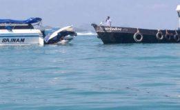 เรือสปีดโบ๊ทชนกับเรือบรรทุกน้ำมัน กลางทะเล ขณะกลับจากเกาะ พีพี มุ่งหน้าสู่ภูเก็ต นทท.ชาวจีน และลูกเรือได้รับบาดเจ็บ