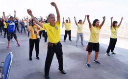 สนช.ออกกำลังกายเพื่อสร้างเสริมสุขภาพพลานามัย ตามนโยบายรัฐบาล