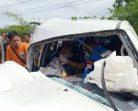 สยอง! กระบะชนรถปูนอย่างแรง กู้ภัยงัดร่างหนุ่มถูกอัดก็อปปี้ส่งโรงหมอ