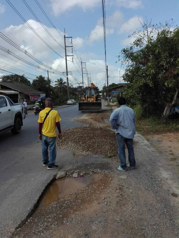 เทศบาลเมืองคลองแหปรับพื้นที่ถนนให้ประชาชนสัญจรไปมาได้สะดวก