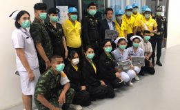 ท่าอากาศยานหาดใหญ่ร่วมกับโรงพยาบาลค่ายเสนาณรงค์ มณฑลทหารบกที่ 42 มอบหน้ากากอนามัยให้แก่ผู้โดยสาร