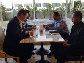 ผู้แทนพิเศษของรัฐบาลให้การต้อนรับและพบปะพูดคุยสำนักงานคณะผู้แทนสหภาพยุโรปประจำประเทศไทย
