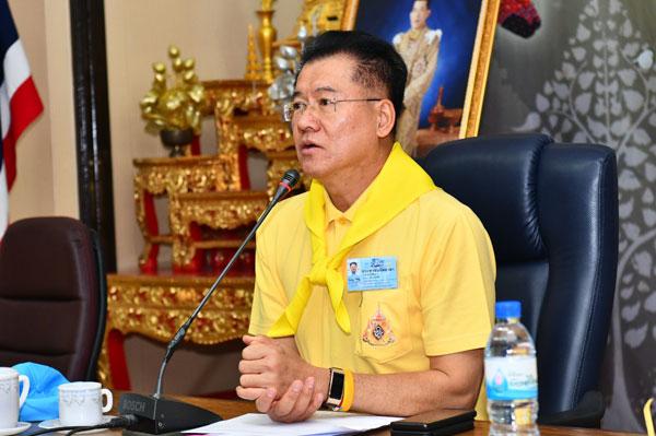 ผู้ว่าฯ  นครราชสีมาประชุมหัวหน้าส่วนราชการสังกัดกระทรวงมหาดไทย