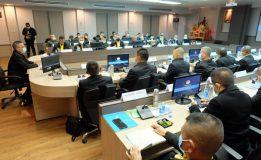รัฐมนตรีช่วยว่าการกระทรวงกลาโหม/หัวหน้าผู้แทนพิเศษของรัฐบาลร่วมประชุมภายใน สำนักงาน คปต.ส่วนหน้า