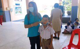 เทศบาลนครสงขลาให้บริการตรวจสุขภาพแก่นักเรียน โรงเรียนเทศบาล 3