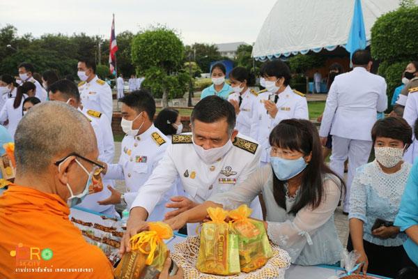 เทศบาลนครสงขลาจัดพิธีทำบุญตักบาตรและลงนามถวายพระพรชัยมงคลฯ 12 สิงหาคม 2563