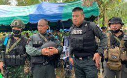ตำรวจภูธรภาค 9 เยี่ยมให้กำลังใจ จนท.ตำรวจ/ทหาร ชึ่งปฎิบัติการร่วมปิดล้อมตรวจค้นเเหล่งพักพิงของกลุ่ม ผกร.