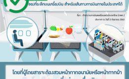 ประกาศ สำนักงานการบินพลเรือนแห่งประเทศไทย (กพท.) อนุญาตให้สายการบินให้บริการอาหารและเครื่องดื่ม ของที่ระลึกบนเครื่องบิน
