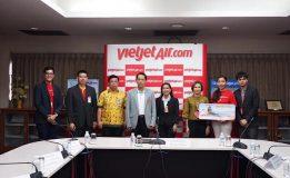 ท่าอากาศยานหาดใหญ่แถลงข่าวต้อนรับเที่ยวบินปฐมฤกษ์สายการบิน Thai Vietjet Air