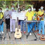 บริษัท ผลิตไฟฟ้าขนอม จำกัด มอบเครื่องดนตรีสากลให้แก่โรงเรียนบ้านคลองวัง